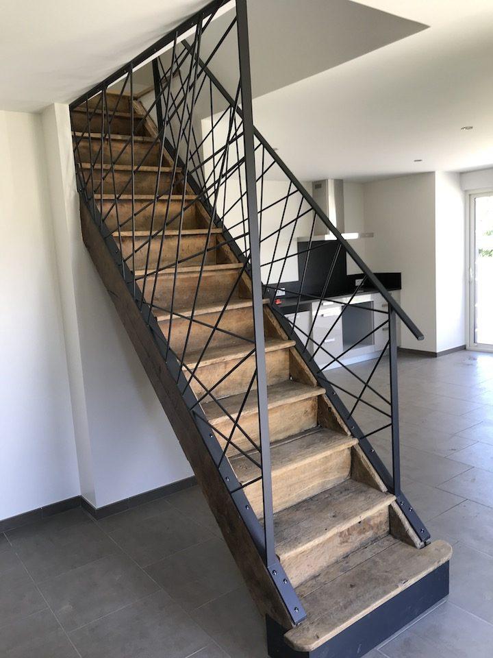 escalier rampe métallerie sur-mesure